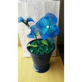 Caso De Alumínio Com Flor Artificial Com Meia De Seda