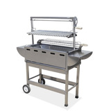 Asador Inoxidable Base Y Repisas Laterales