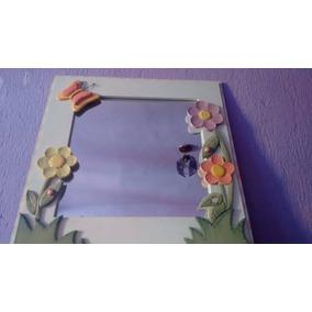 Espejo Decorativo Marco De Mdf Y Resina 64x64 44x44