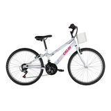Bicicleta Caloi Ceci Aro 24 Branca/rosa 18v