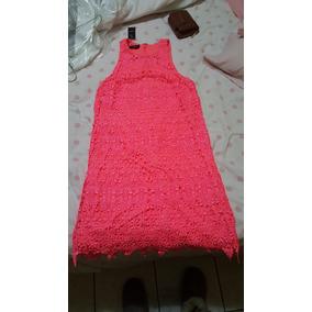 Vestido Marca Bebe 100% Original Talla Xs Color Salmon Nuevo