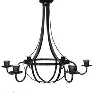 Lámpara Colgante Araña Pera 6 Luces - Chapa Hierro Negro