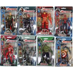 Kit 7 Bonecos Marvel The Avengers (vingadores)