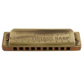 Gaita Vintage Harp 1923 20 Vozes Re Grave Madeira 1020dgrave