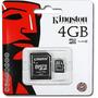 Cartão Memória Micro Sd 4gb Lacrado Original C/ Adaptador Sd