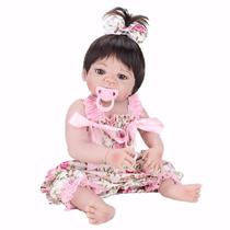 Boneca Bebe Reborn Victoria De Silicone 55 Cm Sob Encomenda