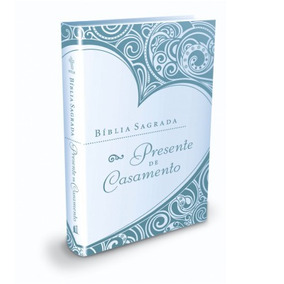 Bíblia Sagrada Presente De Casamento Azul - Ntlh