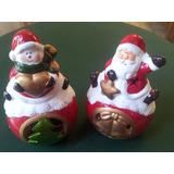 Adornos De Navidad En Ceramica Portavelas Decoracion Navidad