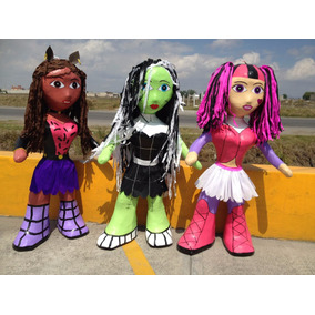 Piñata Monter High Claudeen Wolf Draculaura Franki Monster (