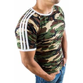 Nuevo Modelo Playera Militar Camuflajeada Slim Fit Swag