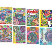 Libro Mandalas Para Iluminar Colorear Paquete Varios Terapia