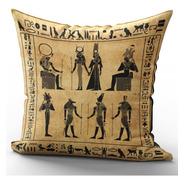 Capa De Almofada 40x40cm Egípcia Egito Antigo Mod 1