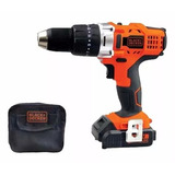 Taladro Inalambrico Percutor 14.4v Black Decker Hp14 +bolso