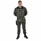Kit Uniforme Farda Tática + Camiseta Camuflada Eb Militar
