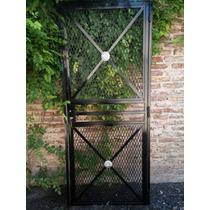 Puerta Reja Reforzada De 85,5 X 2,03 Con Marco Incluido