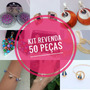 Kit Revenda 50 Semi Joias Brincos Colares Pulseiras Anéis