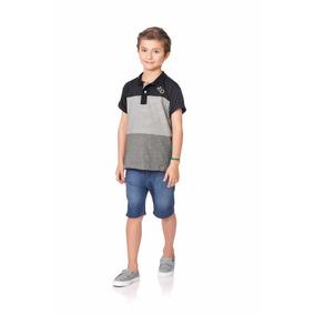 Roupa Infantil Masculina Camisa Polo Fakini