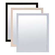 Espejo Decorativo P/colgar 45x55cm Madera / Blanco / Negro