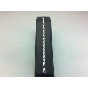 Pulsera Delgada De Plata 925 Tejido Gucci Diamantada Ad3895