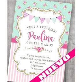 Kit Imprimible Shabby Chic Vintage Candybar Romántico 93