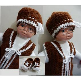 Conjunto De Lã Bebê -tamanho G Feito A Mão dab5963a2b035