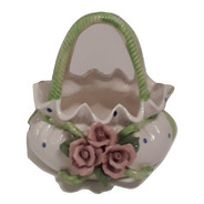 Alhajero Joyero Porta Alhajas Bijou Colitas Ceramica