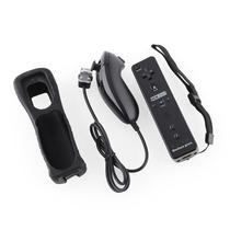 Kit Controle Wiimote Plus Nunchuck Preto Nintendo Wii Wii U