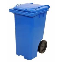 Contentor De Lixo Em Plástico Com Rodas 240 Litros Az C240