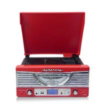 Gravador Discos Lp Vitrola Retro Usb Rádio Fm Mp3 Symphony