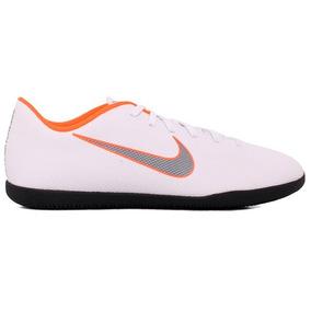 Tênis Futsal Nike Vaporx 12 Club Ah7385-107 Branco/laranja