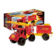 Juguete Camion De Bomberos Con Tanque Y Escalera Duravit