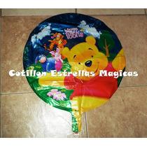 Winnie Pooh Globos Metalizados Cotillon 45cm