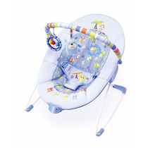 Cadeira Descanso E Vibra Azul Urso 0-11kg