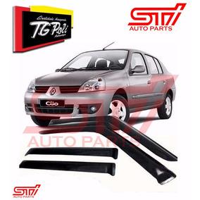 Calha Chuva Defletor Fumê Clio Sedan 2008 2009 2010 Tgpoli