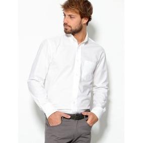 Camisa Hombre Blanca Manga Larga