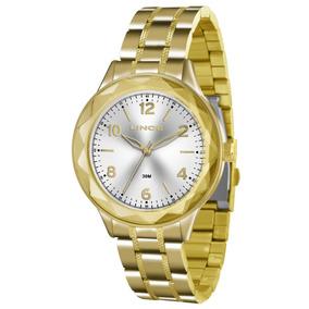 Relógio Lince Feminino Dourado Lrg4344l S2kx Original Nf
