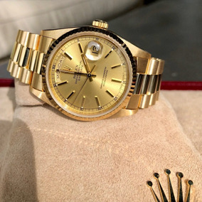 Relógio Daydate Presidente Ouro + Caixa E Documetos