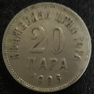 Moeda 20 Para Ano 1906 Montenegro