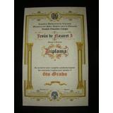 Paquete Sexto Preescolar Medalla/diploma Pergamino Italiano