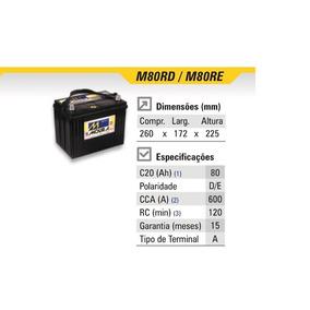 Bateria Moura 80ah M80rd