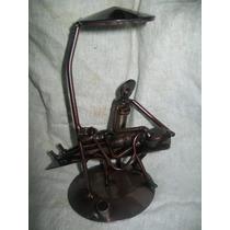 Gcg Dentista Figura De Metal Reciclado Profesiones Artesanal