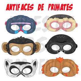 50 Mascaras Antifaces De Monos Changos Simios Primates