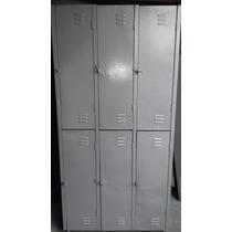 Armario Roupeiro De Aço Com 6 Portas