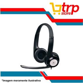 Fone De Ouvido Com Microfone Headset Logitech Usb H390