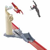 Juguete- Pista Hot Wheels Avengers Flight Strike Marvel