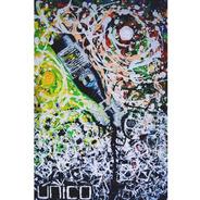 Acrílicos Pintura Abstracta Sobre Lienzo Y Bastidor Madera