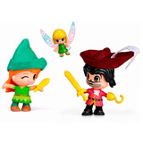 Pinypon Peter Pan Capitan Garfio Campanita Disney En Smile