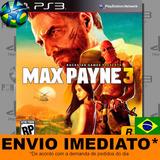 Max Payne 3 - Ps3 - Legendas Em Português - Psn Digital