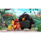 Painel Tecido Sublimado Tema Angry Birds 2,5 Alt X 4,0 Larg