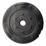 Disco 2,5 Kg. Bsfit Liso Pvc Encastrable Pesas 30 Mm Gym